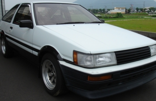1980's Japanese white two door coupe