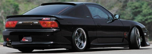 Black two door coupe Japanese race car