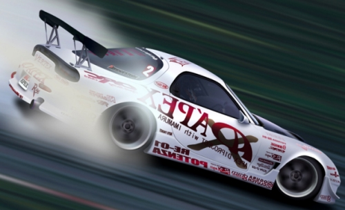 Heavily modified Mazda RX-7 Japanese race car