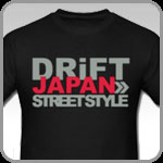 Drift Japan Street Style logo on black t-shirt.